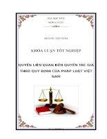 quyền liên quan đến quyền tác giả theo quy định của pháp luật việt nam
