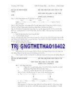 tuyển tập các đề thi HSG môn hóa 9 của tỉnh Bình Định