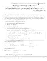 Hệ thống một số kỹ thuật giải phương trình bất phương trình chứa căn thức