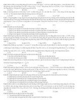 đề thi thử vật lý hay số 4