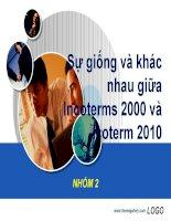 So sánh Incoterms 2000 và Icoterm 2010 môn Nghiệp vụ thương mại quốc tế