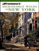 frommer''s memorable walks in new york