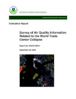 survey of air quality information related to the world trade center collapse potx