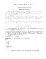 Giáo án - Bài giảng: LẬP TRÌNH C NÂNG CAO