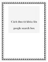 Cách đưa từ khóa lên google search box pptx