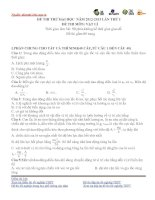 tổng hợp đề thi thử đại học môn vật lí hay