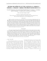 Khả năng sinh trưởng của các tổ hợp lai giữa nái lai F1 (LandracexYorshire) , F1(YorshirexLandrace) phối với lợn đực Duroc và L19 docx