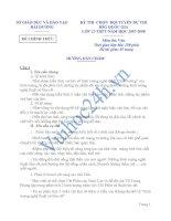 SỞ GIÁO DỤC VÀ ĐÀO TẠO HẢI DƯƠNG ĐỀ CHÍNH THỨC KỲ THI CHỌN ĐỘI TUYỂN DỰ THI HSG QUỐC GIA LỚP 12-THPT-NĂM HỌC 2007-2008 Môn thi: Văn pptx
