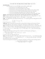 tài liệu ôn thi học sinh giỏi phần nhiệt học vật lý 8