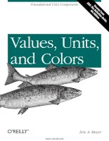 values units and colors