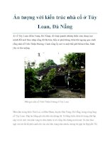Ấn tượng với kiến trúc nhà cổ ở Túy Loan, Đà Nẵng doc