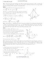 giải hình học không gian bằng tọa độ oxyz