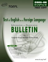 Testof English as a Foreign Language™ Information and Registration BULLETIN for Computer-based and Paper-based Testing pptx