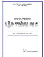 Giáo trình hướng dẫn lập trình PLC