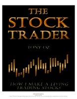 tony oz - how i make a living trading stocks