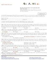 ĐỀ THI THỬ ĐẠI HỌC CAO ĐẲNG LẦN 2 – NĂM 2013 Môn HÓA ĐỀ 23 docx