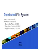 tiểu luận distributed file system