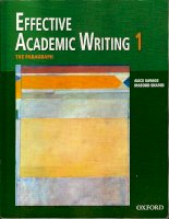 Effective academic writing 1 paragraph