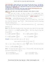 Phương pháp giải dòng điện xoay chiều (Trần Quang Thanh)