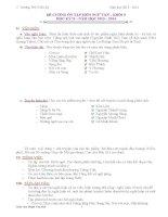 Đề cương ôn tập môn ngữ văn lớp 9 học kỳ II chi tiết