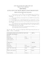 Mẫu HỢP ĐỒNG CUNG CẤP VÀ SỬ DỤNG DỊCH VỤ BAO THANH TOÁN (Dành cho Bao thanh toán trong nước) potx