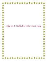Giúp trẻ 1-3 tuổi phát triển vốn từ vựng. pot