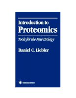 introduction to proteomics tools for the new biology - daniel c. liebler