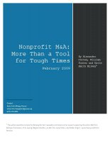 Nonprofit mergers and acquisitions (M&A không lợi nhuận)