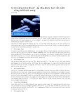 12 kỹ năng kinh doanh - 12 chìa khóa bạn cần nắm vững để thành công