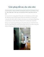 Giải pháp tối ưu cho nhà nhỏ pptx