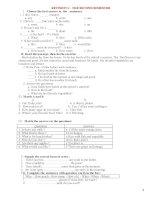 ôn tập thi hkii tiếng anh lớp 6 (bài tập)