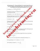 10 đề luyện tập môn toán cho kỳ thi đại học