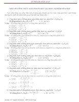 Các công thức giải nhanh trắc nghiệm hóa 12