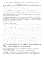 NGÂN HÀNG câu hỏi THI môn THIẾT kế và PHÁT TRIỂN sản PHẨM