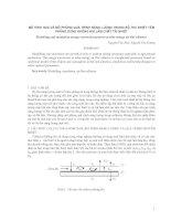 Mô hình hóa và mô phỏng quá trình năng lượng trong bộ thu nhiệt pdf