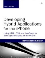 addison-wesley developing hybrid applications for the iphone using html css and javascript to build dynamic apps for the iphone