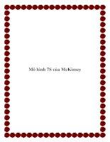 Mô hình 7S của McKinsey. ppt