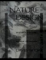 the nature of design - oxford university press