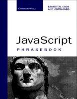 sams javascript phrasebook, essential code and commands (2006)