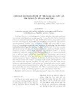 ĐÁNH GIÁ HIỆU QUẢ KINH TẾ VÀ TIỀM NĂNG SẢN XUẤT LÚA TÁM TẠI HUYỆN HẢI HẬU, NAM ĐỊNH docx