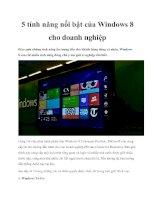 5 tính năng nổi bật của Windows 8 cho doanh nghiệp pptx