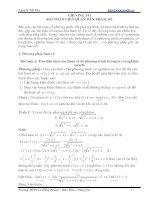 Bài toán chứa tham số