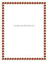 Sưu tầm những bài ca dao chủ đề cô đơn pdf