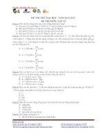 đề thi thử vật lí số 5