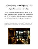 Chiêm ngưỡng 26 mẫu phòng khách đẹp cho ngôi nhà của bạn pot