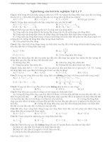 ngân hàng câu hỏi trắc nghiệm vật lý 9