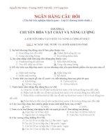 NGÂN HÀNG CÂU HỎI ( Câu hỏi trắc nghiệm khách quan – Lớp 11 chương trình chuẩn )