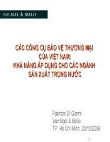 Các công cụ phòng vệ thương mại của Việt Nam