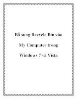 Bổ sung Recycle Bin vào My Computer trong Windows 7 và Vista docx