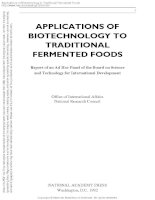 applications of biotechnology in traditional fermented foods by panel on the applications of biotechnology